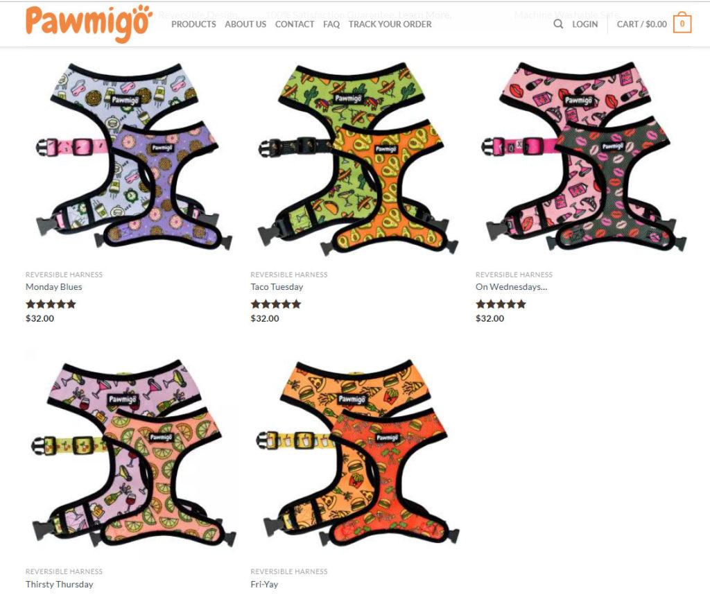 pawmigo harnesses based in California